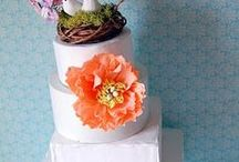 cake toppers / woodland bird toppers nest
