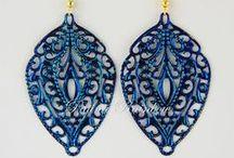 My Work at Patina Rainbow / Hand Painted Patina Filigree Jewelry