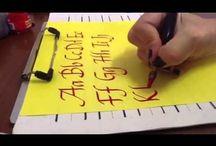 Taller de caligrafía/Calligraphy/lettering / Por 15 años he hecho caligrafía artística. Aquí, un homenaje a Yannick Durand, mi maestra, en Canadá, que falleció hace un par de años. Algo de lo que he hecho y de otros, que admiro... / by estefaniabotero