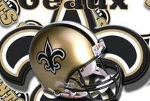 N.O. Saints &  Black & Gold / IN NEW ORLEANS WE LOVE OUR SAINTS..WELCOME TO OUR.....     WHO DAT NATION.......... / by Sandy Lee Cali