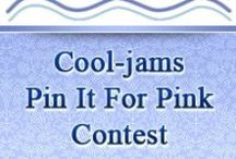 Pin it for Pink Contest / October is Breast Cancer Awareness Month and  for every entry we'll donate a $1 to breast cancer prevention. Donations will go  to both Susan G. Komen and The Breast Cancer Research Foundation! http://www.cool-jams.com/pinkcontest.html