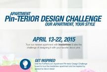 """Apartment Pin-terior Design Challenge / Enter the """"Apartment Pin-terior Design Challenge"""" April 13th-April 22nd 2015 by taking a tour of our pinned InsideView studio apartment and by visiting the official rules and guidelines here:  http://bit.ly/AptPINteriorChallenge"""