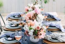 Tablescapes / To find more tablescape ideas and dining room decor, visit https://www.forrent.com/blog/