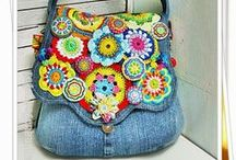 Crafting with denim / Love for denim?  Here you'll find ideas for crafting with it. Get inspiration!