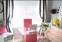 Office & Craft Room Zen / I love beautiful, unique office spaces and craft rooms. Some have great organization and storage, others have great furniture, still others are arranged in a fashion that keeps me motivated to make my office as beautiful as possibile! Wherever you spend your working hours, you should love your surroundings! / by Bad Girl Business