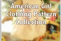 "American Girl / 18"" Doll Clothes / American Girl Doll sewing patterns - free patterns - learn to sew - 18"" dolls"