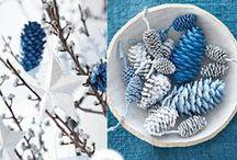 Blue Christmas / Blue Christmas decor inspiration