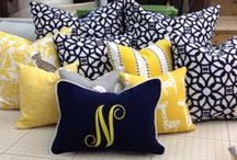 Pillows oh My / Pillows - the easiest and least expensive way to add a pop of color to your space