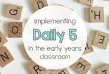 Daily 5 Inspiration / Daily 5 in the early years classroom | Work on writing, Read to Self, Listen to Reading | Word Work  | Australian Curriculum | Foundation, Kindergarten and Prep lesson plans and units of work | home daycare | kindy teacher | daycare learning environment |