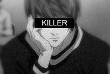 PsychoDeathGeass / Psycho Pass, Death Note, Code Geass, Kira, Light Yagami, Lelouch Lamperouge, Shogo Makishima, Suzaku Kururugi, Shinia Kogami, L, Shinigami