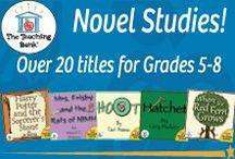 Novel Study Units Gr. 5-8: The Teaching Bank / Novel studies available for grades 5-8.