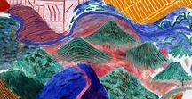 David Hockney - modern, pop