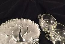 VINTAGE- Mom Called Them 'Bridge Sets' / Popular in the 50's and 60's for casual entertaining and tv snacking. Bridge Set, Snack Set, Hospitality Set, Hostess Set.
