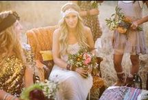 Bohemian Rhapsody Wedding Theme / 60's inspired Flowerchild, Flowing gowns, casual gypsy style. Tents. eclectic and colorful decor with lanterns and wispy wild flowers / by Alethea Bryant