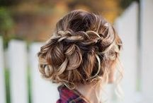 Wedding hair/make up - all up or half up half down? / by Katie Shanley