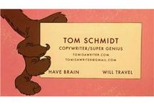 It's Tom Schmidt Day on StudioVox! / Tom is a brilliant freelance copywriter. He is a master of the tagline, pairing a succinct and often witty phrase with eye-catching graphics. His work is infused with humor and brilliance.