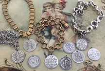 Victorian Love Tokens / Once upon a time Victorians took ordinary coins, they were sterling silver back then, sanded one side smooth and hand engraved them as Love Tokens ‼️