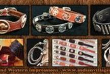 Handcrafted Leather Jewelry / Handcrafted leather bracelets and jewelry from Tribal Impressions- Review the collection off of: http://www.indianvillagemall.com/jewelry/leatherbraclets.html / by Tribal And Western Impressions