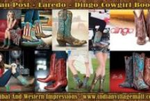 Cowgirl Boots / Cowgirl Boots From Tribal And Western Impressions Authorized Online Retailer For Cushion Comfort Dan Post Boots, Cowboy Certified Boots, Dingo Boots & Laredo Boots! Review the collection off of:  http://www.indianvillagemall.com/cowgirlboots.html / by Tribal And Western Impressions