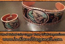 Copper Overlay Collection / Tribal Impressions Copper Overlay Collection. Review the collection off of: http://www.indianvillagemall.com/jewelry/colorcopper.html / by Tribal Impressions