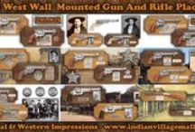 Wall Mount Presentation Old West Gun Collection / Museum Quality Wall Mount Presentation Old West Gun Collection. Review The Collection off of:  http://www.indianvillagemall.com/gunswallmount.html    / by Tribal And Western Impressions