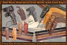 Old West Gun Holsters / Old West Gun Holsters And Gun Belts -From Tribal And Western Impressions- Review the collection off of: http://www.indianvillagemall.com/gunholsters.html / by Tribal And Western Impressions