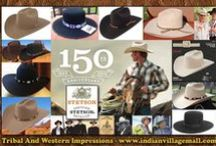 Stetson Hats / Stetson Hats- Made In America- Made In Texas- Top Quality Since  1865 - For Real Cowboys Who Know Hats And Know Quality - TRIBAL & WESTERN IMPRESSIONS -http://www.indianvillagemall.com/stetsonhats.html / by Tribal And Western Impressions