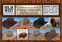 Stetson Buffalo Fur Hats / Stetson Western Hats Made From Genuine Buffalo Fur - Durable And Water Resistant From Tribal And Western Impressions. Review the extensive collection off of: http://www.indianvillagemall.com/stetsonbuffalofurhats.html / by Tribal And Western Impressions