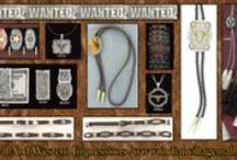 Men's Western Wanted Jewelry Collection / Men's Western Wanted Jewelry Collection From Tribal And Western Impressions - review the collection off of: http://www.indianvillagemall.com/wantedmensjewelry.html / by Tribal And Western Impressions