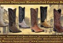 Exotic Skin Cowboy Boots / Exotic Leather Cowboy Boots  From Tribal And Western Impressions  - Genuine Caiman - Genuine Full Quill Ostrich - Genuine Ostrich Leg - Genuine Lizard - Genuine Python - Exotic Leather Prints - http://www.indianvillagemall.com/mensexoticboots.html / by Tribal And Western Impressions