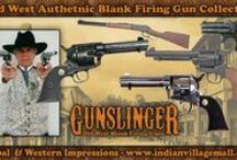 Old West Blank Firing Revolvers / Old West Blank Firing Movie & TV Prop Guns - Revolvers And Rifles - From Tribal And Western Impressions - Review off of: http://www.indianvillagemall.com/gunsblankfiring.html / by Tribal And Western Impressions