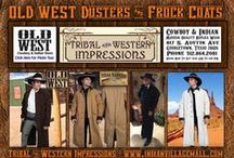 Old West Dusters / Old west Canvas Duster Collection from Tribal And Western Impressions - Review off of: http://www.indianvillagemall.com/cowboydusters.html / by Tribal And Western Impressions
