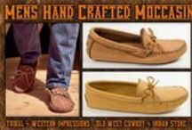 Mens Moccasin Collection / Mens Moccasin Collection From Tribal And Western Impressions- Old West Cowboy And Indian Store - Review the extensive collection off of: http://www.indianvillagemall.com/mocs/mensmoccasins.html / by Tribal And Western Impressions