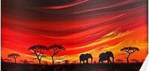 elephant art paintings original sudan african artwork / elephant paintings original wall art africa sudan good luck
