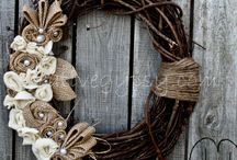 Wreaths / Door wreath ideas and inspiration.