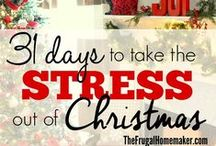 31 days No-Stress Christmas / Does the coming of the Christmas season bring a bit of dread to your heart as you know that means a mountain of things added to your to-do list and no time to just enjoy the season?  Come join me as I write for 31 days during the month of October on ways we can plan and prepare so Christmas doesn't = stress! / by Christina@TheFrugalHomemaker.com