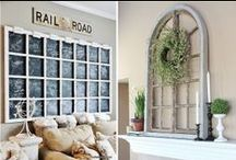 Decorating using old windows / by Christina@TheFrugalHomemaker.com
