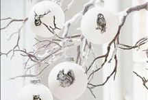 holidays 2015 / red and white and wood, winter woodland wonderland!  That's the idea ---