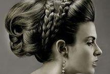 Hair style - Coiffure / Hair style, wedding hair, natural hair, idées coiffure, chignon mariage, foulard, accessoires cheveux, headwrap / by Lynda Mence
