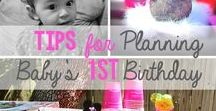 First Birthday Idea Pinboard / Though both my girls' first birthdays have already come and gone, this board has some neat ideas that perhaps can help someone out who is planning one!