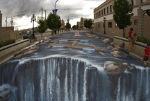 3-D painting art!  / Really cool 3-d painting craze!