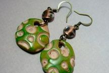 """My Polymer Earrings / Earrings that I have made using polymer beads, that were not a part of the 2012 """"52 earrings in a year"""" project.  Most of the beads I made with my own little hands"""