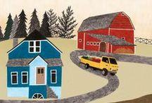 Lieke van der Vorst / I LOVE her illustrations.  She is happy.