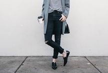 Black skinnies / I love these!  There are a million ways to wear 'em.
