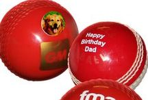 Printed Cricket Balls / All well known brands of cricket balls printed with your ow personalisation.