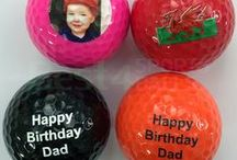 Printed Golf Balls / Printed golf balls with photos, text or logo. No minimum order and fast shipping