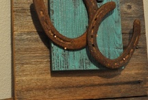 Horseshoe art and Barbed Wire Art / by Madelyn Ramsey