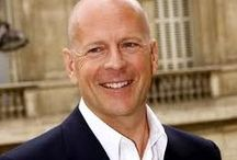 Just Bruce! / Walter Bruce Willis: March 19, 1955. He is an musician, small and big screen actor, and producer. He is a father to five daughters Rumer, (b.1988) Scout, (b.1991)  & Tallulah (b.1994) whom he had with ex wife Demi Moore, and he and wife Emma are parents to Mabel. (b.2012) and Evelyn (b.2014)  / by Susan Harris