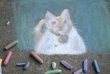 homemade paint & clay / by Linda Davis