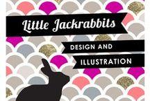 Little Jackrabbits design & Illustration / A wonderful range off all things LJR. From original artwork to designer prints, Stationery to jewellery. You will always find something new here!  www.facebook.com/LittleJackrabbits
